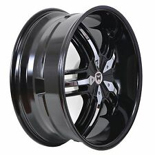 4 GWG WHEELS 20 inch Black Chrome SPADE Rims fits 5X108 ET38 FORD FUSION 2013-16