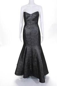 ML Monique Lhuillier Gray Clemence Gown Size 2 $1200 10253848