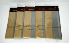 Lot Of 5 Specialty Gift Wrap Tissue Paper Papyrus Shimmery Gold & Silver Elegant