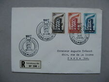 LUXEMBOURG, R-cover FDC 1956, Europe CEPT (1)