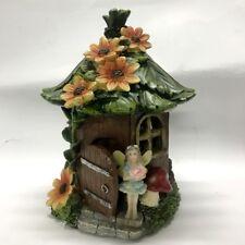NEW 20cm Fairy Tree House Sunflower w Solar Garden Fairy Ornaments Home Decor