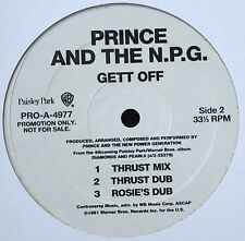 """PRINCE AND THE NPG GET OFF PROMO 12"""" VINYL 1991 N.MINT VERY RARE"""