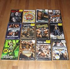 WWE WWF dvd lot of 12 - NEW FACTORY SEALED Wrestlemania SummerSlam Royal Rumble
