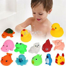 13 Baby Bath Toys Squeaky Rubber Animal Floating Water Children Kids Love Toy US