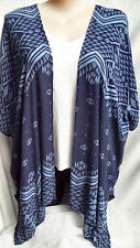 Autograph Blue cardi cardigan swimsuit cover up jacket top M - L 18 20 22 NEW