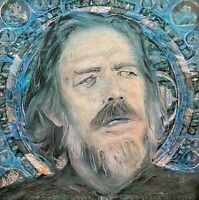 LIMITED PRINT Alan Watts Mandala Eastern Philosopher Portrait Painting Wall Art