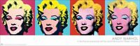 Andy Warhol Marilyn Monroe Face Pop Art Abstract Painting Print Poster New 12x36
