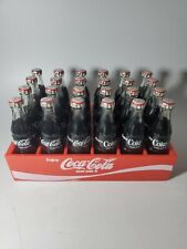 "Vintage Coca Cola Mini Bottles Miniature Plastic Crate 24 3""Bottles"