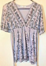 Almost Famous Womens Shirt Dress Size Large Gray and Black
