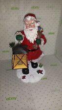 "SANTA FIGURINE by Favorite Things 12"" Tall Detailed Santa Holding Lantern"