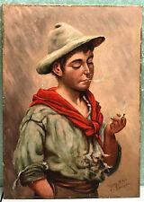 John George Brown ORIGINAL Oil on Board PAINTING 1906 Listed American Artist J G