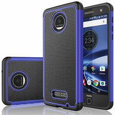 Shockproof PC Rugged Rubber Cool Hard Case Cover For Motorola Moto Z Force Droid
