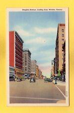 Wichita,KS Kansas, Douglas Avenue looking east circa 1930's
