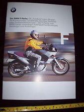 BMW F650 1999 Bike BROCHURE in German Prospekt mint Motorcycle