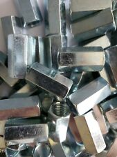 50 Hex Coupling Nuts 12 13 X 58 X 1 14 Threaded Rod Connector Zinc