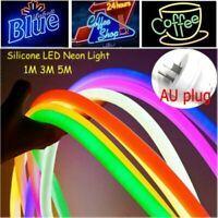 LED Flexible Strip Light 12V SMD2835 Neon Tube IP68 Outdoor Rope Home Bar Decora