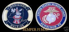 MALS-49 CHALLENGE COIN US MARINES NEWBURGH NY BUNNY RABBIT C-130 HERCULES USMC