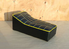 """14"""" x 7"""" BLACK/YELLOW MINIBIKE SEAT SCOOTER CHOPPER MINI BIKE HERTERS HIAWATHA"""