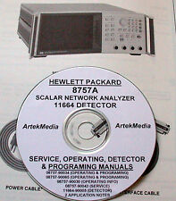 HP 8757A 11664A Ops-Service Manuals + App Note (9 vol.)