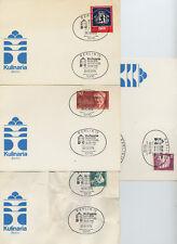 9 Sonderpostkarten Ersttagskarten Bund Berlin DDR Briefmarken Sonderstempel 1969