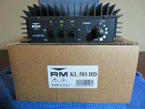 RM ITALY KL503HD HIGH DRIVE 25-30 MHz AMPLIFIER. 300 WATTS ILLINOIS (USA)