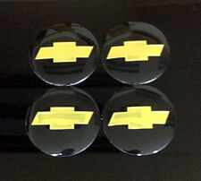 Wheel 56mm Center Cap Sticker Black Set 4pcs Chevrolet