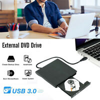 External DVD-RW CD Drive Portable USB 3.0 ROM Rewriter Player Superdrive for PC