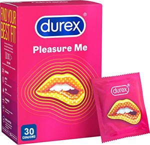 Durex Condoms Pleasure Me Ribbed & Dotted Extra Stimulation 30 Bulk Pack Condoms