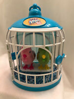 Little Live Pets Friendly Frankie n Beauty Bella Bird Sings Talks Cage Retired