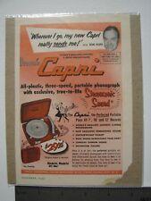 Sonic Capri Stereosonic Sound Bob Hope Vintage Advertisement November 1953 color