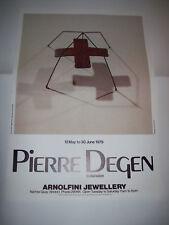 Pierre Degen Extension Jewellery Original Exhibition Poster Arnolfini 1979
