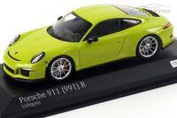 1:43 MINICHAMPS 2016 PORSCHE 911 991 R light green car.tima EXCLUSIVE LE 200 pcs