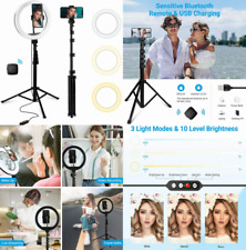 Selfie Ring Light with Tripod Stand & Cell Phone Holder, Led Light,.
