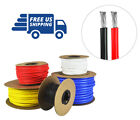8 AWG Gauge Silicone Wire - Fine Strand Tinned Copper - 50 ft. each Red & Black
