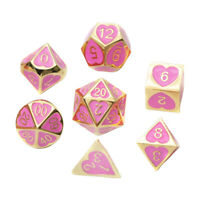 Set of 7 Heart Shape Multi Side Dice Set for MTG DND RPG Party Supplies 03