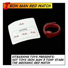 HOT TOYS Iron Man 3 Tony Stark Mechanic Red Watch MMS209 1/6 12 in scale