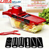 10in1 Mandoline Manual Vegetable Slicer Carrot Fruit Kitchen Cutter Peeler Tool