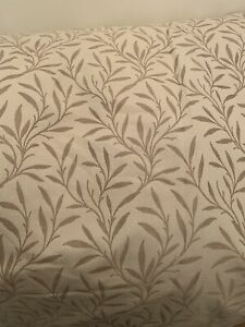 JOHN LEWIS  BRAND NEW CURTAINS LEAF PATTERN TRIPLE PINCH PLEAT FULLY LINED