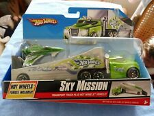 HOT WHEELS AIR RACE TEAM SKY MISSION TRANSPORT TRUCK & VEHICLE NEW IN PACKAGE