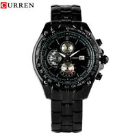 CURREN Full Stainless Steel Strap Men Military Quartz Wrist Watch Reloj Bracelet