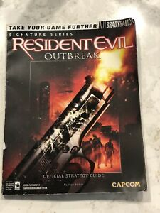 PS2 Playstation 2 Official Strategy Guide Brady Games Resident Evil Outbreak