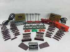 Vintage Tyco HO scale electric train and accessories