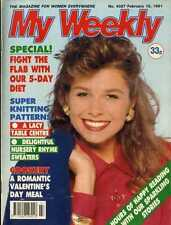 MY WEEKLY MAGAZINE 16/2/1991 LITTLE BO PEEP & HICKORY DICKORY DOCK JUMPERS