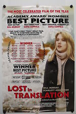 Lost In Translation - S Johansson - Original Movie Poster - 2003 Rolled Ds C9
