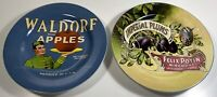 Vintage Labels 2 Salad Dessert Fruit Plates Retired Stoneware Sakura Dinnerware