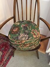 Set of 4 Fabulous Original Ercol Vintage Cushions / Seat Pads for Ercol  Chairs