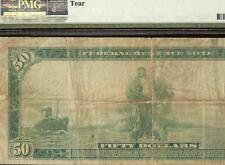 LARGE 1914 $50 DOLLAR BILL FEDERAL RESERVE NOTE OLD PAPER MONEY Fr 1060 PMG VF