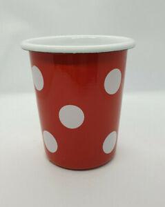 Münder Email -   Becher konisch, rot Polka Dot ,  Ø 8,3 cm Polka Dot