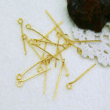 1000Pcs 30mm Gold Plated Eye Pins Connector for Jewelry Making Beads Craft DIY