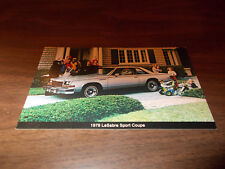 1979 Buick LeSabre Sport Coupe Vintage Advertising Postcard